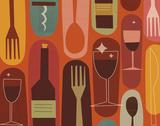 Wine & Dine Prints by Jenn Ski