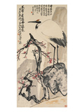 Crane and Plum Blossoms Reproduction proc&#233;d&#233; gicl&#233;e par Wang Zhen