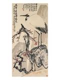 Crane and Plum Blossoms Impression giclée par Wang Zhen