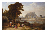 A View of Salzburg with Washerwomen in the Foreground Giclee Print by Philip Hutchings Rogers