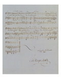 Autograph Manuscript D of 'Im Fruhling', Opus 9 No 4, Dated 6/12/1845, 2 Pages, 55 Bars Giclee Print by Félix Mendelssohn-Bartholdy