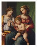 The Mystic Marriage of Saint Catherine Print by Innocenzo Francucci (Studio of)
