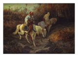 Arab Horsemen at the Edge of a Wood Giclee Print by Adolph Schreyer