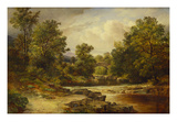 Langdale Pikes, Westmorland Giclee Print by George Vicat Cole