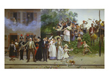 Passing of the King; Passa Il Re Giclee Print by Giacomo Mantegazza