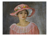 The Pink Hat; Le Chapeau Rose Giclee Print by Henri Lebasque