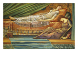 The Sleeping Princess Posters by Edward Burne-Jones