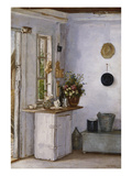 A Kitchen Interior Reproduction procédé giclée par  European School (Early 20th Century)