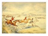 Hunting Scenes: Full Cry Giclee Print by Henry Thomas Alken