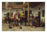 A Spanish Courtyard Reproduction proc&#233;d&#233; gicl&#233;e par Jules Worms
