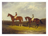 Elis' with J. Day Up: Winner of the St. Ledger, 1836 and 'Bay Middleton' with J. Robinson Up: the… Giclee Print by David Dalby of York