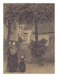A Mother and Her Children; Mere Et Ses Enfants Prints by Xavier Mellery