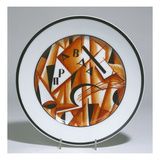 A Soviet Porcelain Propaganda Plate with Letters Composing the Word Pravda (Truth) Giclee Print