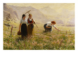 Summer's Day in Norway; Ein Sommertag in Norwegen Giclée-tryk af Hans Dahl