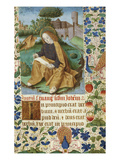 St. John on Patmos. Book of Hours, Use of Rome, in Latin Giclee Print by Jean Bourdichon (Workshop of)