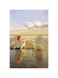 Chairs on the Beach Giclee Print by Carlos Casamayor