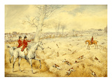 Hunting Scenes: over the Hedge Giclee Print by Henry Thomas Alken