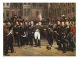 The Farewells of Fontainebleau, 20th April 1814 Premium Giclee Print by Horace Vernet