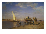 By the Nile Giclee Print by Léon Adolphe Auguste Belly