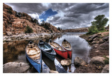 Canoe Break Prints by Bob Larson