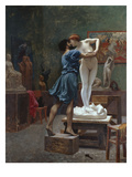 Pygmalion Et Galatee Reproduction proc&#233;d&#233; gicl&#233;e par Jean-Leon Gerome