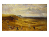An Extensive View of Devil's Dyke, Newmarket with Gentry Picnicking Prints by  English School