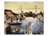 Marseilles Harbour Giclee Print by Christopher Wood