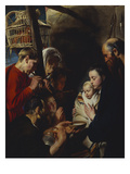 The Adoration of the Shepherds Giclee Print by Jacob Jordaens