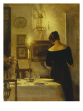 In the Dining Room Print by Carl Holsoe