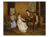 The Flirt Premium Giclee Print by Vittorio Reggianini