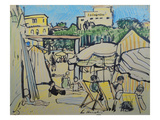 Juan-Les-Pins Premium Giclee Print by George Leslie Hunter