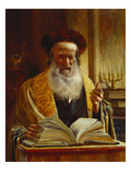 Rabbi Delivering a Sermon Premium Giclee Print by Joseph Jost