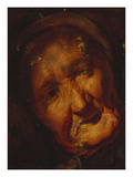 The Head of an Old Woman - a Sketch Posters by Jacob Jordaens