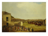 Col. Peels's 'The Bey of Algiers', Nat Flatman Up, Winning the 1840 Chester Cup Giclee Print by William Tasker