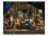 The Marriage Feast of Peleus and Thetis Reproduction procédé giclée par Gerard De Lairesse