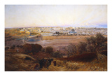 Jerusalem from the Mount of Olives Giclee Print by Gustav Bauernfeind
