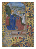 The Visitation. Book of Hours, Use of Poitiers, in Latin Print