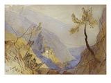 The Monastery of St. Dionysius, Mount Athos Art by Edward Lear