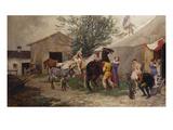 The Circus Giclée-Druck von Julius von Blaas