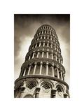 Det skæve tårn i Pisa Giclée-tryk af Christopher Bliss