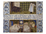 Beauty and the Beast', a Morris, Marshall, Faulkner and Co Tile Panel (Detail) Giclee Print by Edward and Lucy Burne-Jones and Faulkner
