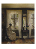 A Lady in an Interior Gicléetryck av Carl Holsoe