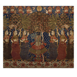 A Gold Chintz Pichhavai of Krishna Giclee Print