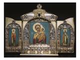 An Important Silver-Gilt Triptych Prints