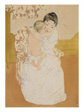 Maternal Caress Poster by Mary Cassatt