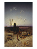 Twilight in the Desert Giclee Print by Hermann Corrodi