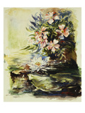Wild Roses and Waterlily Giclee Print by John La Farge