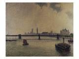 Charing Cross Bridge, London; Le Pont De Charing Cross, Londres Print by Camille Pissarro