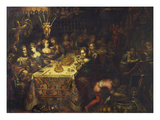 Belshazar's Feast Reproduction procédé giclée par Michieli Andrea (Circle of)