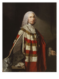 Portrait of a Nobleman, Thought to Be James, 8th Earl of Moray, Standing Three-Quarter Length, in… Poster by Allan Ramsay
